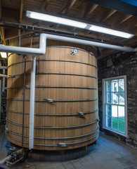 Fototapete - Lower View of Bourbon Mash Tank