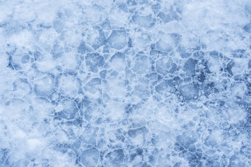 Ice texture, frozen water surface