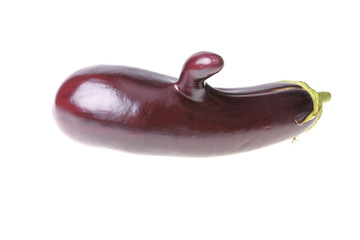 Aubergine with finger