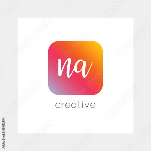 NA logo, vector  Useful as branding, app icon, alphabet combination
