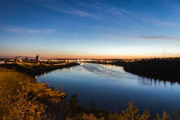 City Lights Over the Missouri River