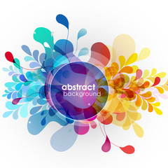 Abstract colored background with different shapes.