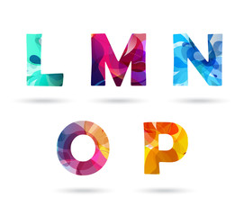 Abstract colorful capital letters set.