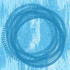 Blue grunge tire track background