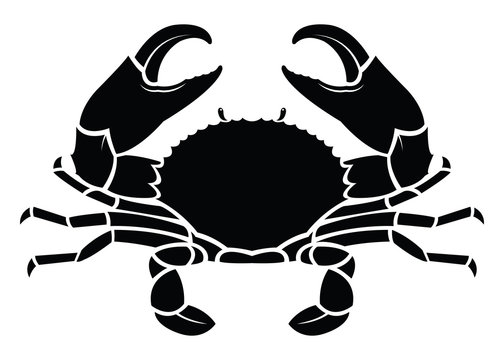 Crab sea animal silhouette