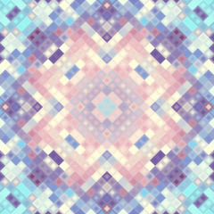 Seamless background. Geometric abstract pattern in low poly pixel art style.