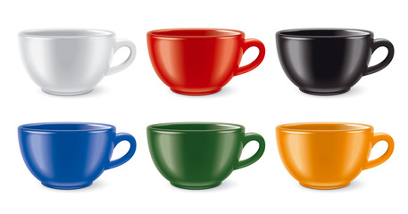 Matted colored cups
