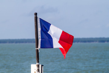 French flag at a boat