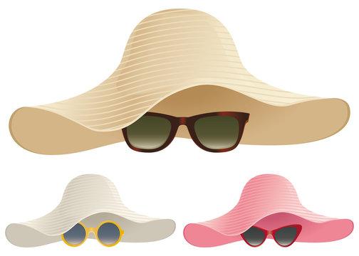Floppy hat sunglasses