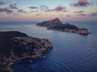 Majorca and Sa Dragonera at sunset, Spain