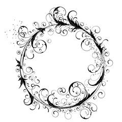 Flowers circle design element