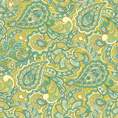 Paisley Floral seamless pattern.