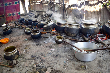 Outdoor kitchen in Kashmir