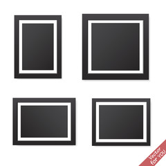 Realistic blank picture frame