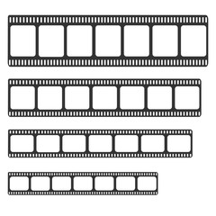 Filmstrip set vector