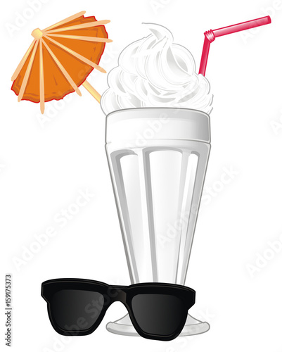 Milkshake, milk, cocktail, ice cream, glass, cream, tube