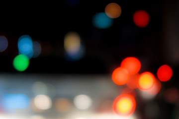 Concept Blur image and bokeh Night Road