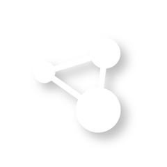 Icon mit Schatten - Vernetzung