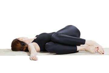 Yoga Reclining Twist Pose - Jathara Parivartaranasana