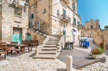 Scenic sight in Matera, Basilicata, southern Italy