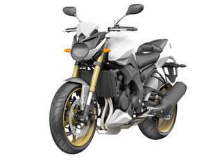 Modern Motorbike hi detail isolated