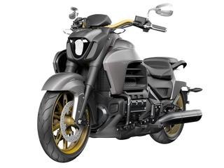 Modern Motorbike hi detail isolated