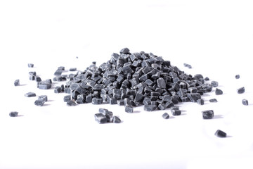 beautiful natural gray stones scattered on a white background