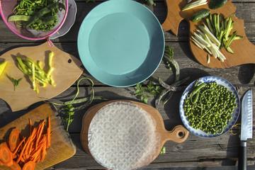 Рисовые блинчики с овощами