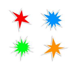 splash stickers icon set