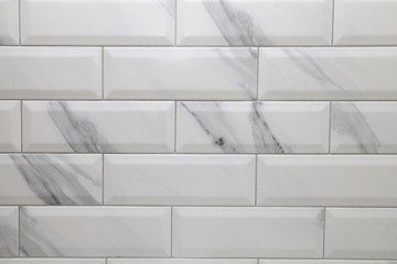 white metro ceramic tile background