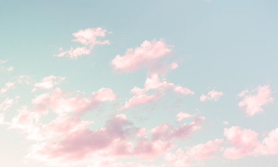 Wonderful Cloudscape with Pink clouds