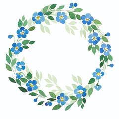 Wreath watercolor flowers