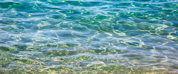 Wide Screen Background transparent sea water