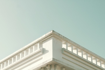 Classical architecture. Close up of a facade building