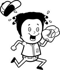 Cartoon Child Softball