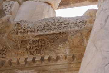 Detail of the Library of Celsus - Ephesus - Turkey