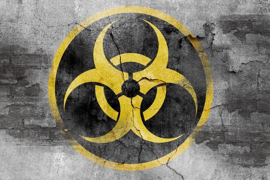 grunge biohazard symbol