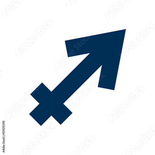 Isolated Sagittarius Icon Symbol On Clean Background Vector Archer