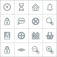 Web Icons Set. Collection Of Alert, Calendar, Glance And Other Elements. Also Includes Symbols Such As Calendar, Research, Speech.