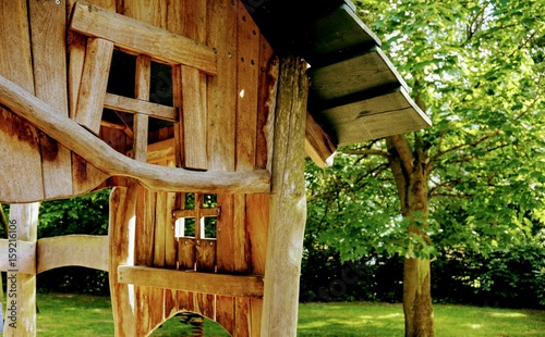 Holzhauschen Auf Einem Spielplatz Stock Photo And Royalty Free