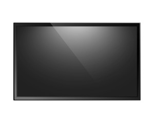 TV screen isolated
