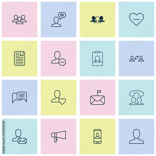 Communication Icons Set Collection Of Badge Business Exchange