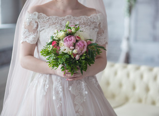 Flowers of the bride, wedding