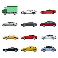Papiers peints Cartoon voitures super car flat set icon
