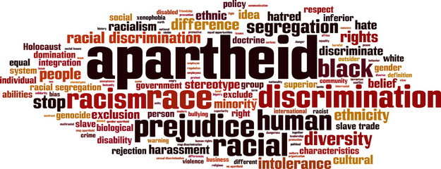 Apartheid word cloud