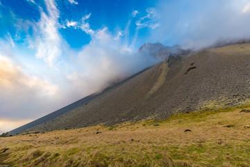 Mountains in Skardsdalsur valley, Austurland, South-Eastern Iceland