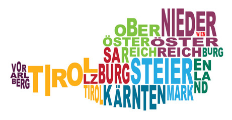 States of Austria word cloud