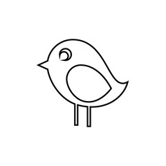 cute bird icon over white background vector illustration