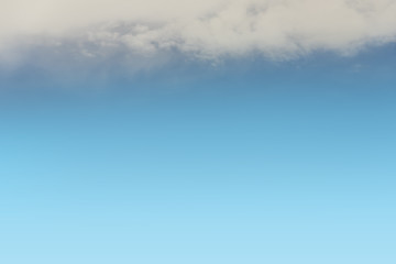 sky background of blue sky with white cloud on the blue sky with space for text