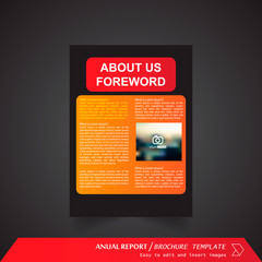 Anual Report , Brochure Template - page 02